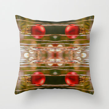 Twas The Night Before Christmas  Throw Pillow by Louisa Catharine Design