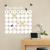 Dry Erase Daily Dot Calendar - Dry Erase Decal - by Simple Shapes
