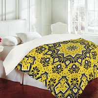 DENY Designs Home Accessories | Lisa Argyropoulos Retroscopic In Lemon Duvet Cover