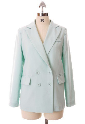Mint Double Breast Blazer by Chic+ - Retro, Indie and Unique Fashion