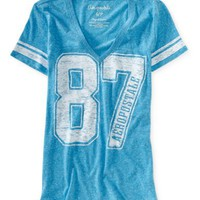 Aero 87 Football V-Neck Graphic T