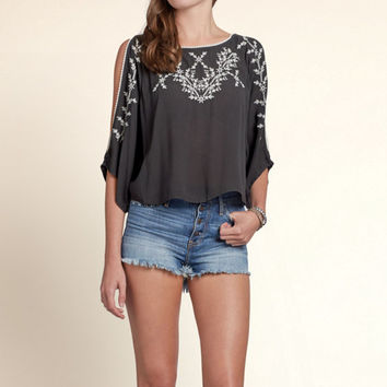 Spring Valley Poncho Top