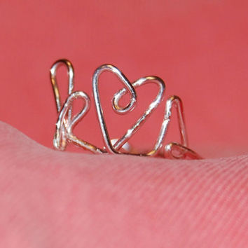Initials Love Ring