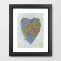I'm In Love With Cities I've Never Been To Framed Art Print by Ally Coxon | Society6
