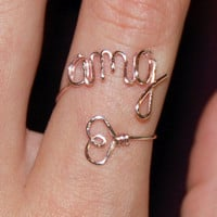 Initials and Heart Ring