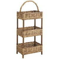 3-Tier Rattan Basket