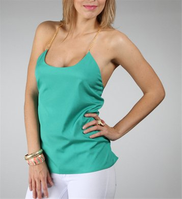 Green Chain Link Top