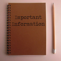 Important Information- 5 x 7 journal