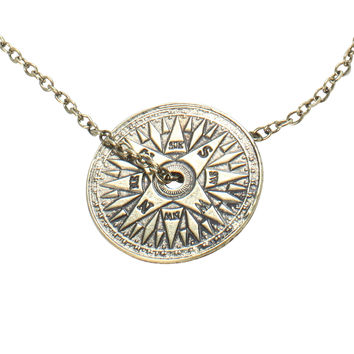 LOVEsick Compass Disc Necklace