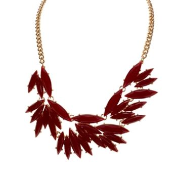 Cara Petal Cut Jewel Frontal Necklace at Von Maur
