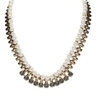 Cara Two Row Pearl and Crystal Necklace at Von Maur