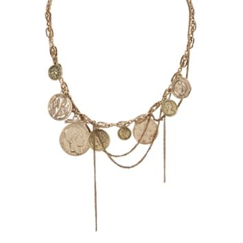 Cara Coin Chain Necklace at Von Maur