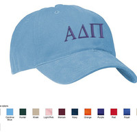 GREEK Personalized Embroidered Monograms Baseball Hat Cap Personalized by Arts and Soles