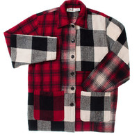 Vintage 90&#x27;s Multi-Plaid Button-Up with Patch Pockets