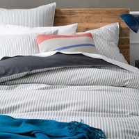 Ticking Stripe Duvet Cover + Shams