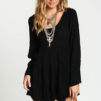 Crepe Scoopback Bell Dress - LoveCulture