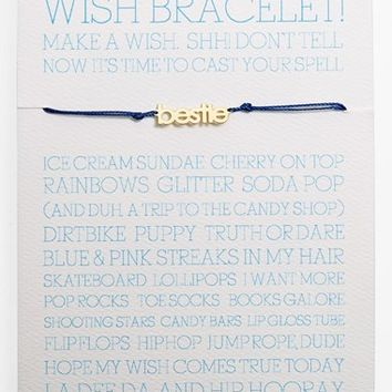 Girl's 100% Gumdrop 'Bestie Wish' Bracelet - Blue