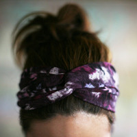Hippie twist  head band - violet