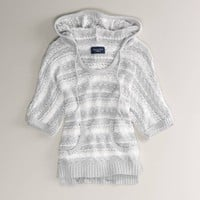 AE Open Knit Hooded Popover | American Eagle Outfitters