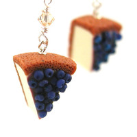 Blueberry cheesecake earrings