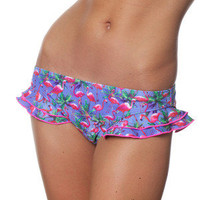 Flamingo Frilly Bikini Brief - Playful Promises
