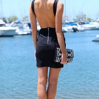 BRING IT BACK DRESS - low back lbd bodycon