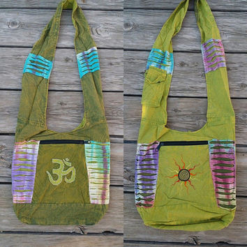 Om Aum Sun Reversible Large Messenger Bag **Only one available**
