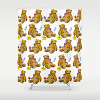 Bears with rubberduck ...... Shower Curtain by LoRo  Art & Pictures