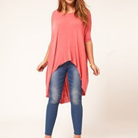 ASOS CURVE Jersey Top With Dip Back at asos.com