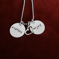 CHERISH ENJOY   Hand stamped necklace (other pieces can be customized/personalized)