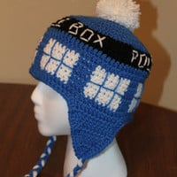 Dr. Who TARDIS Earflap Hat