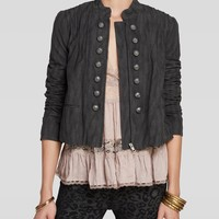 Free People Jacket - Faux Suede Femme Band