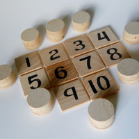 Math Game, Math Set, Waldorf Inspired, Numbers, Puzzles and Games, Learning Tool, Preschool