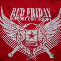 NEW  Red Shirt Friday US Army Distressed style T-Shirt