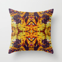 Patterned Paintography  Throw Pillow by Louisa Catharine Design