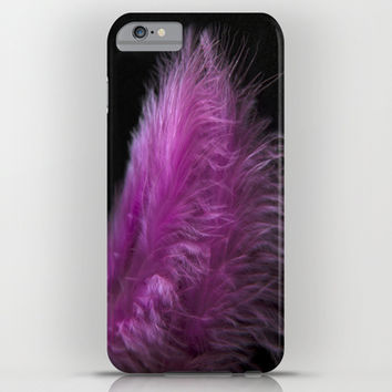Feather in pink iPhone & iPod Case by VanessaGF | Society6