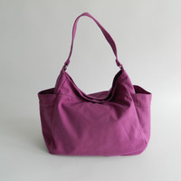 Back to School SALE - Renee in Purple - Tote/ shoulder bag