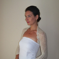 Ivory BRIDAL BOLERO SHRUG / Lace Wedding Bolero Shrug / Lace Wedding Bolero Jacket / Ivory Bridal Shrug