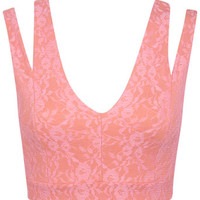 Bonded Lace Bra Top - Tops - Apparel