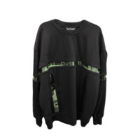 Black PVC Pullover Sweater