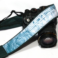 Vintage Camera Strap. dSLR Camera Strap, Music and roses camera strap, SLR, Nikon, Canon Camera Strap, Men, Women Accessories