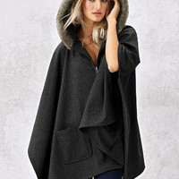 Faux-fur Trim Capelet - Victoria's Secret