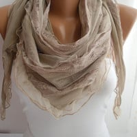 Beige Elegance Scarf  Shawl