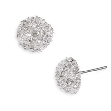 Junior Women's Rachel Stone Dome Stud Earrings