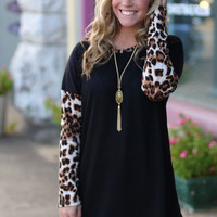 Wild for Cheetah Knit Sweater {Black}