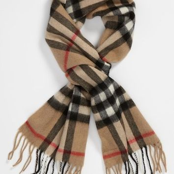 Burberry 'House Check' Cashmere Scarf (Girls)