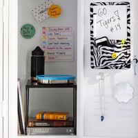 Gear-Up Black Zebra Locker Dry-Erase/Pocket