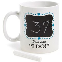 Barbuzzo 'Wedding Countdown' Ceramic Mug | Nordstrom