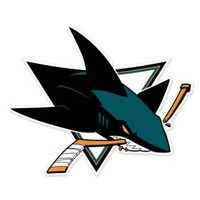 "San Jose Sharks NHL car bumper sticker decal (5"" x 4"")"