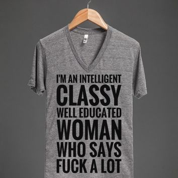 """I'm An Intelligent, Classy, Well Educated Woman Who Says Fuck A Lot..."" 